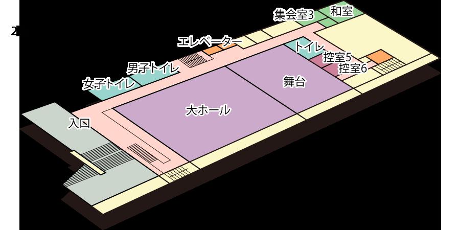 阿倍野区民センター : フロアマップ2F