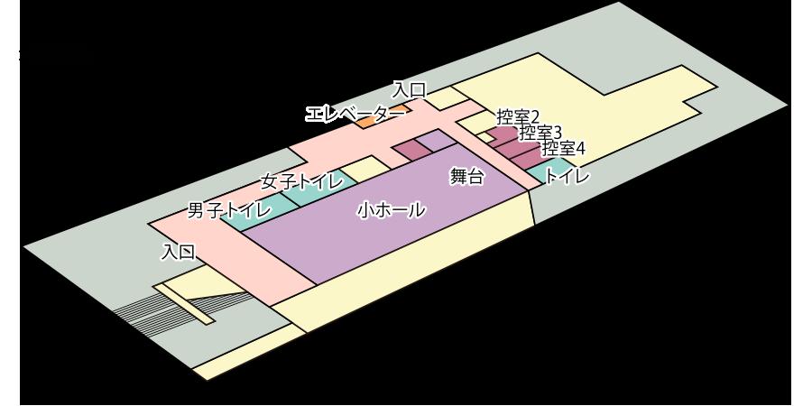 阿倍野区民センター : フロアマップB1F